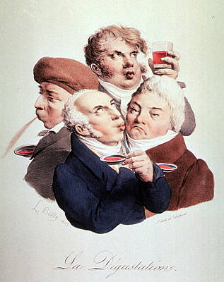 Wine Tasting 1825 Poster by Science Source