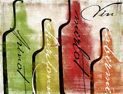 Wine Tasting I Poster by Mindy Sommers
