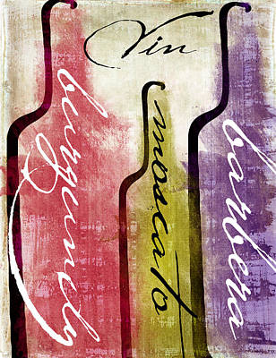 Wine Tasting II Poster by Mindy Sommers