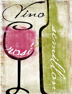 Wine Tasting Iv Poster by Mindy Sommers