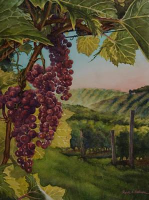 Wine Vineyard Poster by Heidi E  Nelson