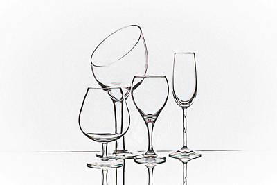 Wineglass Graphic Poster by Tom Mc Nemar