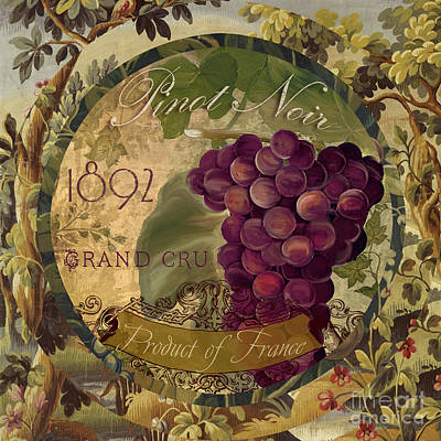 Wines Of France Pinot Noir Poster by Mindy Sommers