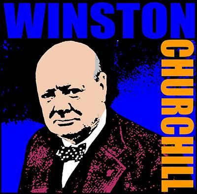 Winston Churchill Poster by Otis Porritt