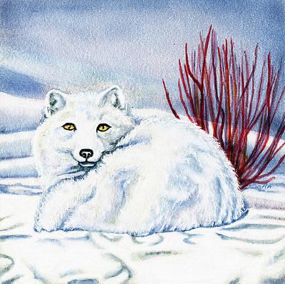 Winter Fox Poster by Antony Galbraith
