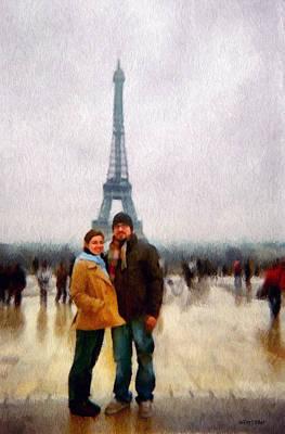 Winter Honeymoon In Paris Poster by Jeff Kolker