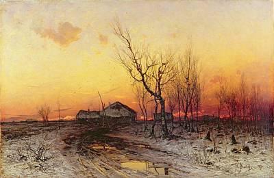 Winter Landscape Poster by Julius Sergius Klever