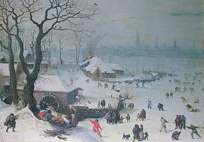 Winter Landscape Poster by Lucas Van Valckenborch