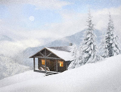 Winter Retreat Poster by James Charles