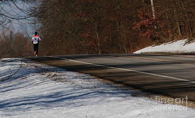 Winter Run Poster by Linda Shafer