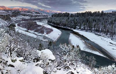 Winter Snake River Poster by Leland D Howard