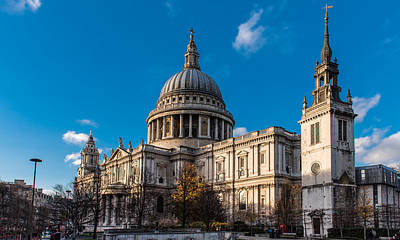 Winter Sun St Paul's Cathedral Poster by Gary Eason