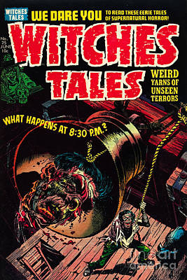 Witches Tales Comic Book Cover Poster by Halloween Dreams