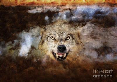 Wolf Art Poster by Wildlife Fine Art