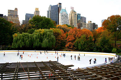 Wollman Rink And Central Park South Poster by Christopher Kirby