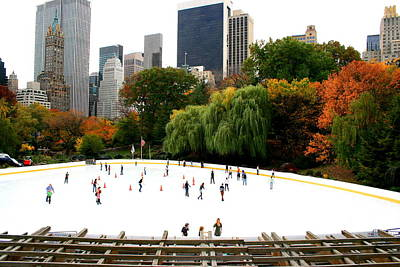 Wollman Rink In Fall Poster by Christopher Kirby