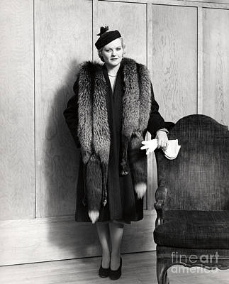 Woman In Fox Fur Stole, C.1930s Poster by H. Armstrong Roberts/ClassicStock