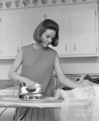 Woman Ironing An Apron, C.1970s Poster by H. Armstrong Roberts/ClassicStock