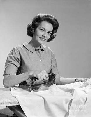 Woman Ironing Shirt, C.1950s Poster by H. Armstrong Roberts/ClassicStock
