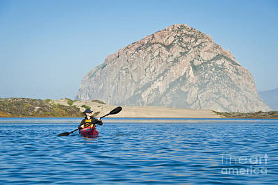 Woman Kayaking In Morro Bay Poster by Bill Brennan - Printscapes