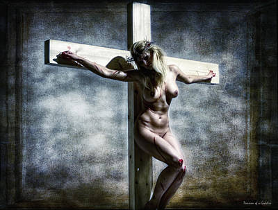 Woman On The Cross I Poster by Ramon Martinez