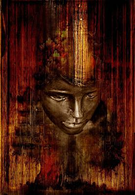 Woman's Head Poster by Heike Hultsch