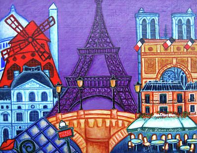 Wonders Of Paris II Poster by Lisa Lorenz