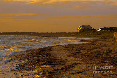 Woodneck Beach Sunset Poster by Michael Petrizzo