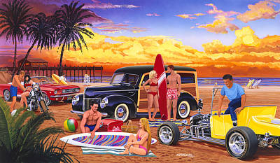 Woody Beach Poster by Bruce kaiser