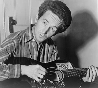 Woody Guthrie 1912-1967, Folk Singer Poster by Everett
