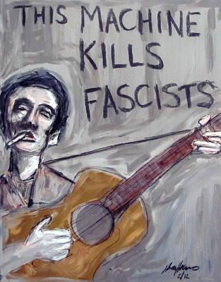 Woody Guthrie Poster by Karl Haglund