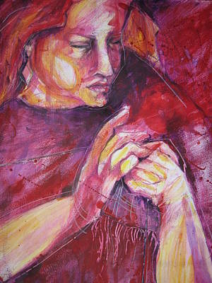 Working Hands Poster by Brigitte Hintner