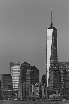 World Trade Center Downtown Manhattan Bw Poster by Susan Candelario