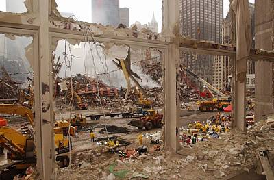 World Trade Center Recovery Operations Poster by Everett