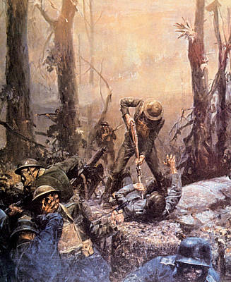 World War I, American Marines In The Poster by Everett