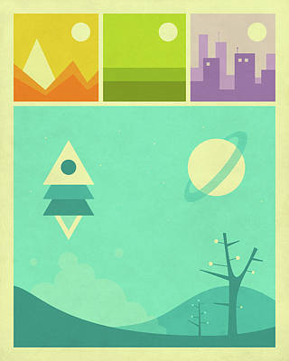 Worlds Of Wonder Poster by Jazzberry Blue
