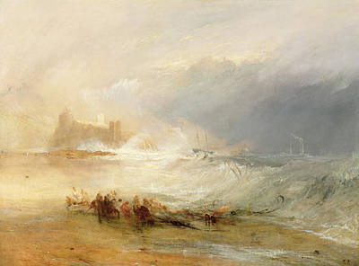 Wreckers - Coast Of Northumberland Poster by Joseph Mallord William Turner
