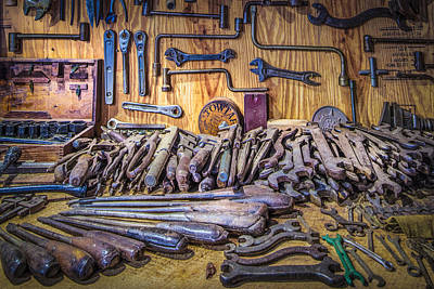 Wrenches Galore Poster by Debra and Dave Vanderlaan