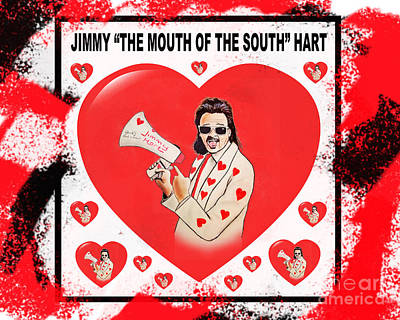Wrestling Manager Executive Composer Jimmy The Mouth Of The South Hart Vrsion II Poster by Jim Fitzpatrick