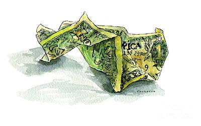 Wrinkled Dollar Poster by Diane Thornton
