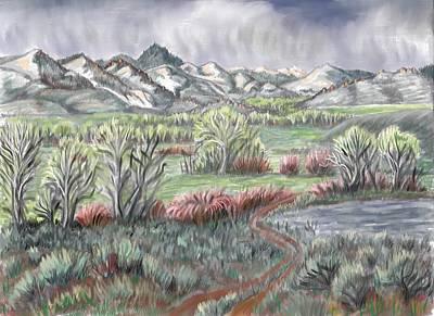 Wyoming Spring Poster by Dawn Senior-Trask