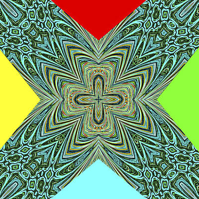 X With Colors Poster by Susan Leggett