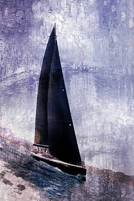 Yachts, Oil Painting Brushes Poster by Jean Francois Gil