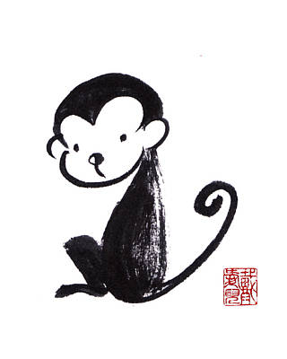 Year Of The Monkey Poster by Oiyee At Oystudio