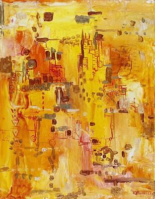Yellow Conundrum Poster by Regina Valluzzi