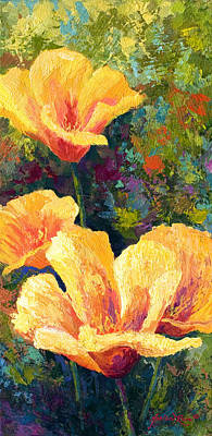 Yellow Field Poppies Poster by Marion Rose