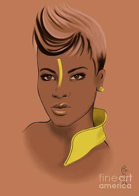 Yellow Poster by Gabriela Tasiro