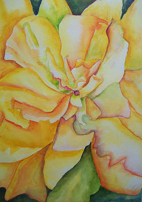 Yellow Hibiscus Poster by Sandy Collier