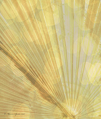 Yellow Palm Frond Lh Poster by Marvin Spates