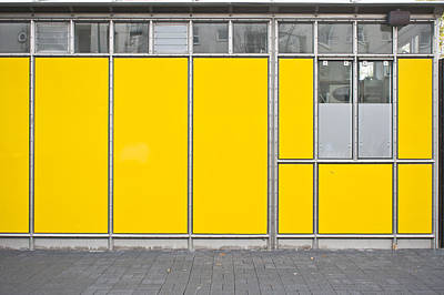 Yellow Panels Poster by Tom Gowanlock